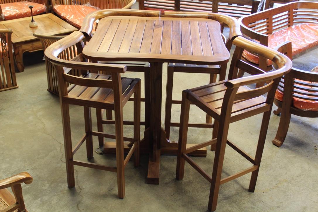 ensemble table haute et ses 4 chaises idmr. Black Bedroom Furniture Sets. Home Design Ideas
